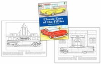 Coloring Book for Older Man - 50s Cars