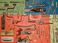 Puzzles with Bigger Pieces - Old Tools Puzzle