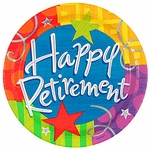 Retirement Party Plates - 10""