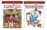 Rockwell & Saturday Evening Post Coloring Book Set of Two