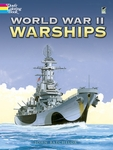 World War II Warships Adult Coloring Book for Seniors