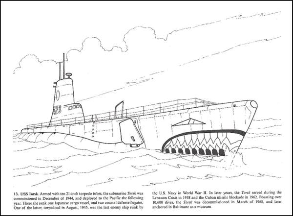 World war ii warships adult coloring book for seniors for Cold war coloring pages