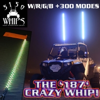 OUT OF STOCK !!! - NEW - 5 Foot - 5150 Whips - '187 CRAZY WHIP' w/ Remote - FREE SHIPPING