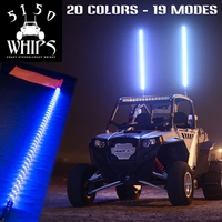 OUT OF STOCK!! - 4 Foot - 5150 Whips - Multicolor LED Whip w/ Remote - FREE SHIPPING
