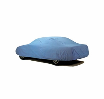 Soft Indoor Poly-Cotton Breathable Full Car Cover-In Blue Size-D