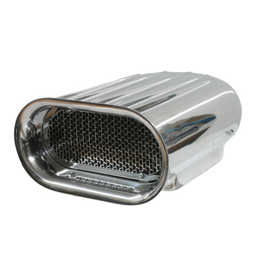Car Air Cleaner Product ~ Polish aluminum ram air cleaner scoop finned single four
