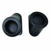 "Yamaha Rhino 6.5"" Round Front Speaker Mounts Mounting Pods Enclosures Pair Black"