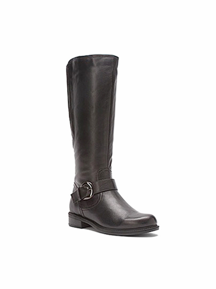 David Tate Women's Abby Women's Extra Wide Calf Knee High Leather Boot (Brown) - FINAL SALE