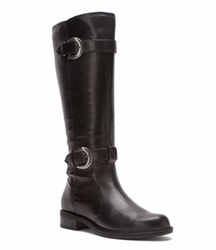 David Tate Women's Brandi Extra/Super Wide Calf� Boot (Black) - FINAL SALE