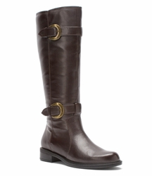 David Tate Women's Brandi Extra/Super Wide Calf� Boot (Brown) - FINAL SALE