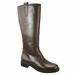 David Tate Women's Bree Super Plus Wide Calf®  Leather Riding Boot (Brown)