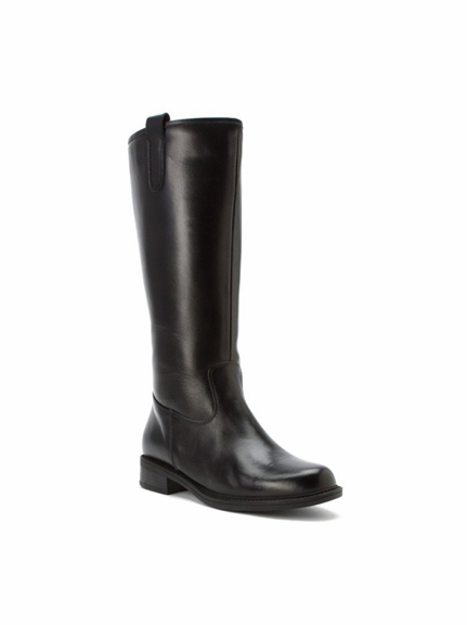 David Tate Women's Bree Super Plus Wide Calf®  Leather Riding Boot (Black)