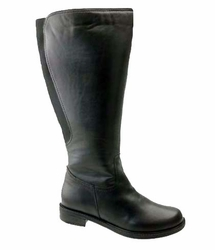 David Tate Women's Land Extra/Super Women's Leather Wide Calf� Boot (Black)  - FINAL SALE