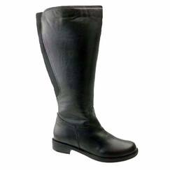 David Tate Women's Land Extra/Super Women's Leather Wide Calf™ Boot (Black)  - FINAL SALE