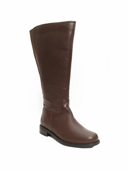 David Tate Women's Land Extra/Super Women's Leather Wide Calf™ Boot (Brown) - FINAL SALE
