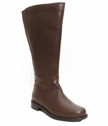 David Tate Women's Land Extra/Super Women's Leather Wide Calf� Boot (Brown) - FINAL SALE