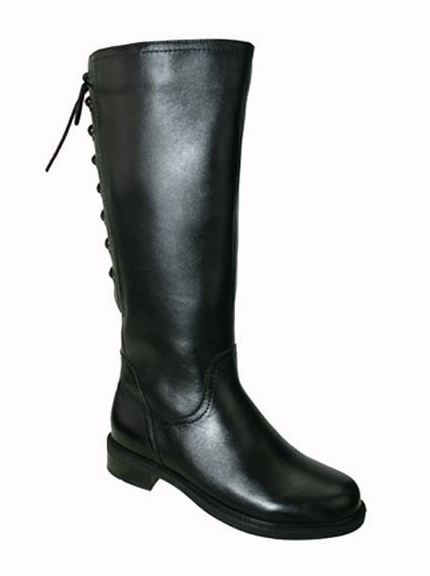 David Tate Women's Layla Women's Super/Super Plus Wide Calf®  Boot (Black)