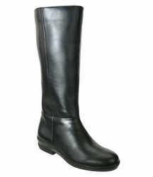 David Tate Women's Paige Extra/Super Wide Calf� Women's Leather Boot (Black) - FINAL SALE