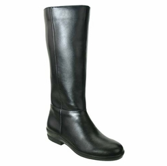 David Tate Women's Paige Extra/Super Wide Calf� Women's Leather Boot (Black)