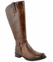 Jordana Women's Super/Super Plus Wide Calf&reg Leather Boot  (Cognac) - FINAL SALE