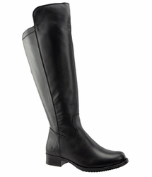 Lilah Women's Super/Super Plus Wide Calf �️ Leather Over the Knee Boot  (Black) - FINAL SALE