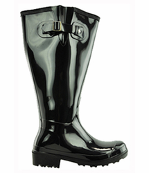 Lily Women's Super Wide Calf� Rain Boot (Black)