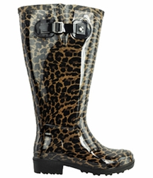 Lily Women's Super Wide Calf� Rain Boot (Leopard)