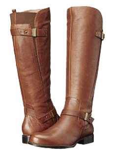 Naturalizer Women's Joan Wide Calf Boot (Banana Bread) - Extra ...
