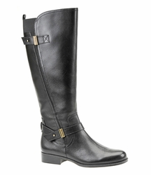 Naturalizer Women's Joan Wide Calf Leather Riding Boot (Black) - FINAL SALE