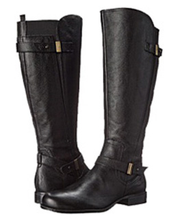 Naturalizer Women's Joan Wide Calf Boot (Black) - Extra Wide Calf ...