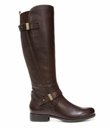 Naturalizer Women's Joan Wide Calf Leather Riding Boot (Brown)