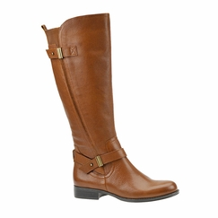 Naturalizer Women's Joan Wide Calf Leather Riding Boot  (Banana Bread) - FINAL SALE
