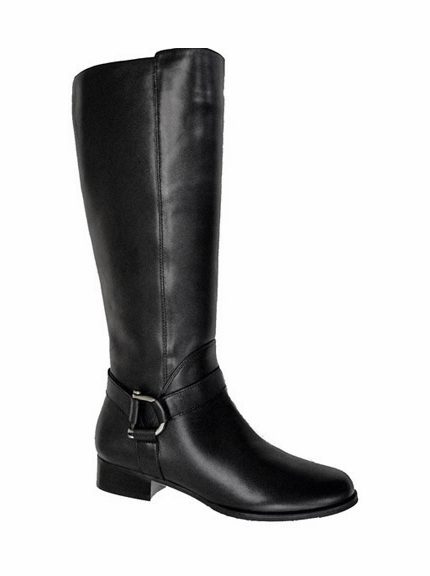 Ros Hommerson Women's Jenny Extra Wide Calf Boot (Black) - Final Sale