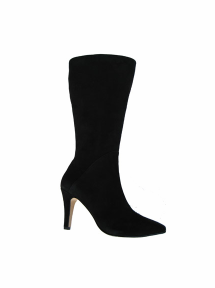 Ros Hommerson Women's Maryland Super Wide Calf™ Boot (Black Suede) - Final Sale