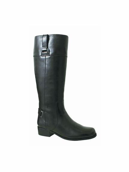 Rose Petals Julia Extra Wide Calf Boot (Black) - FINAL SALE