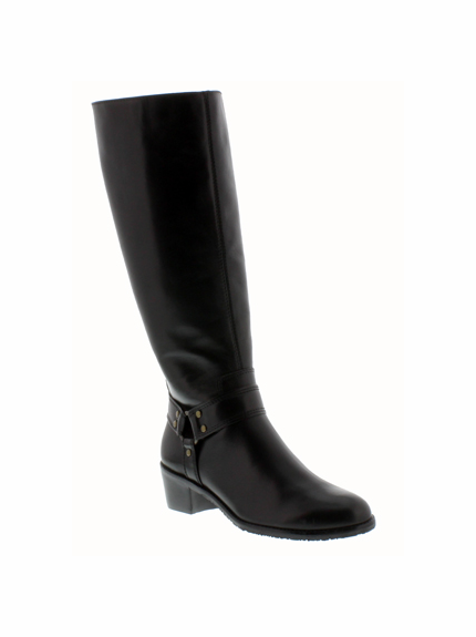 Rose Petals Lia Extra Wide Calf Boot (Black) - Final Sale