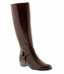 Rose Petals Lia Extra Wide Calf Boot (Tobacco) - Final Sale