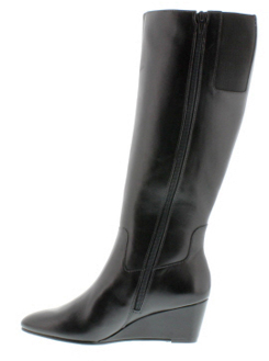Rose Petals Summer2 Extra Wide Calf Wedge Boot (Black) - FINAL ...