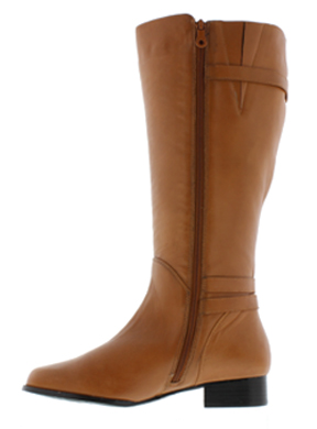 Rose Petals Women's Addison Extra Wide Calf Boot (Cognac) - Wide ...