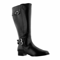 Rose Petals Women's Addison Super Wide Calf� Leather Riding Boot (Black) - FINAL SALE