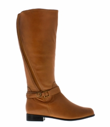 Rose Petals Women's Kylie Super Wide Calf� Leather Riding Boot (Cognac) - FINAL SALE