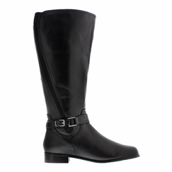Rose Petals Women's Kylie Super Wide Calf™ Leather Riding Boot (Black)