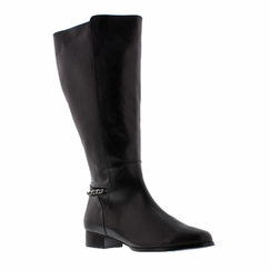 Rose Petals Women's Piper Super Wide Calf� Leather Dress Boot (Black) - FINAL SALE