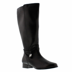 Rose Petals Women's Sadie Super Wide Calf� Leather Dress Boot (Black) - FINAL SALE