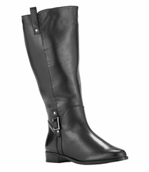 Rose Petals Women's Skye Super Wide Calf� Leather Riding Boot (Black)
