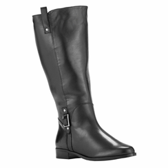 Rose Petals Women's Skye Super Wide Calf™ Leather Riding Boot (Black)