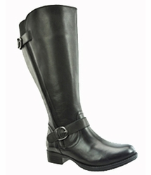 Tori Women's Super/Super Plus Wide Calf� Leather Ridng Boot ON SALE!  (Black) - FINAL SALE