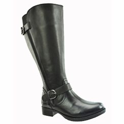 Tori Women's Super/Super Plus Wide Calf® Leather Ridng Boot ON SALE!  (Black) - FINAL SALE
