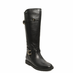 Women's Cassie Extra Wide Calf Vegan Boot (for larger ankles!  Black) - FINAL SALE