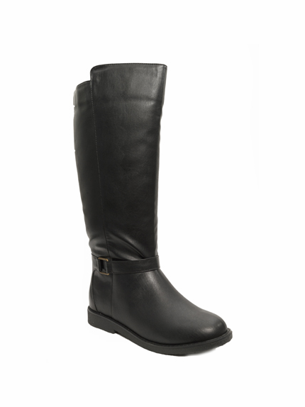 Women's Heidi Super Wide Calf™ Vegan Boot (for larger ankles!) (Black) - FINAL SALE